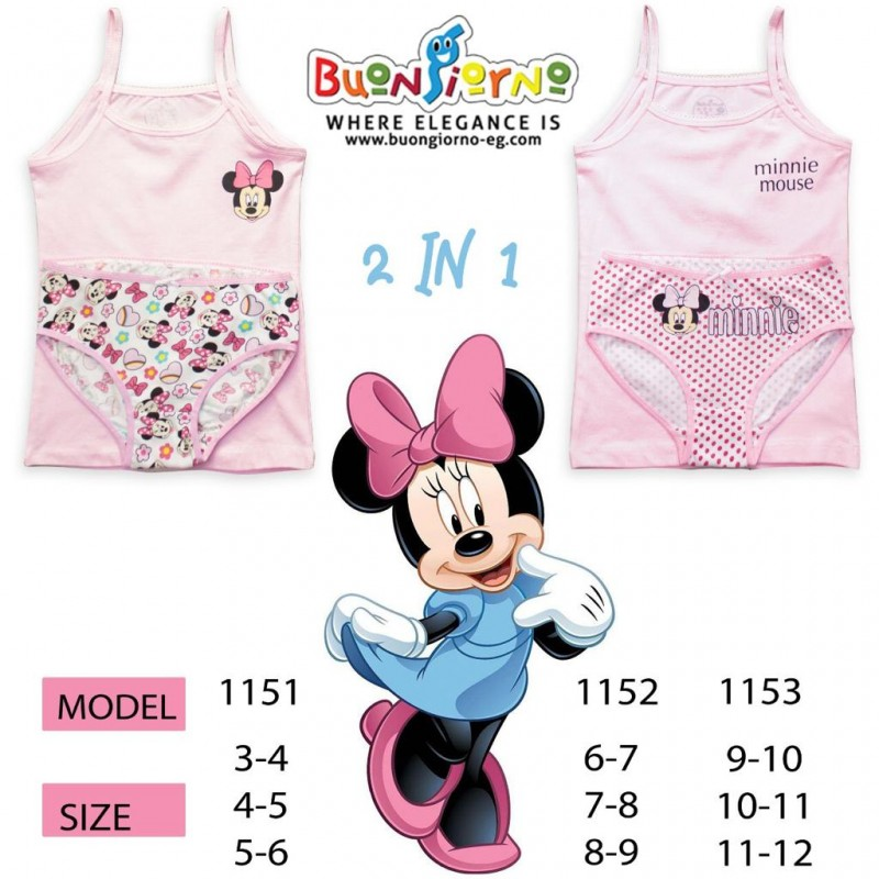 Underwear set (  Minnie Mouse  )- [3-6]